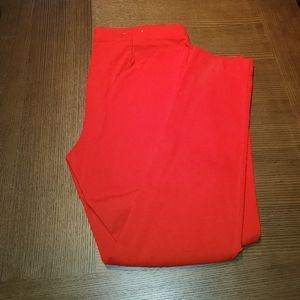 Michael Kors | Red | Flat Front/Skinny Pants